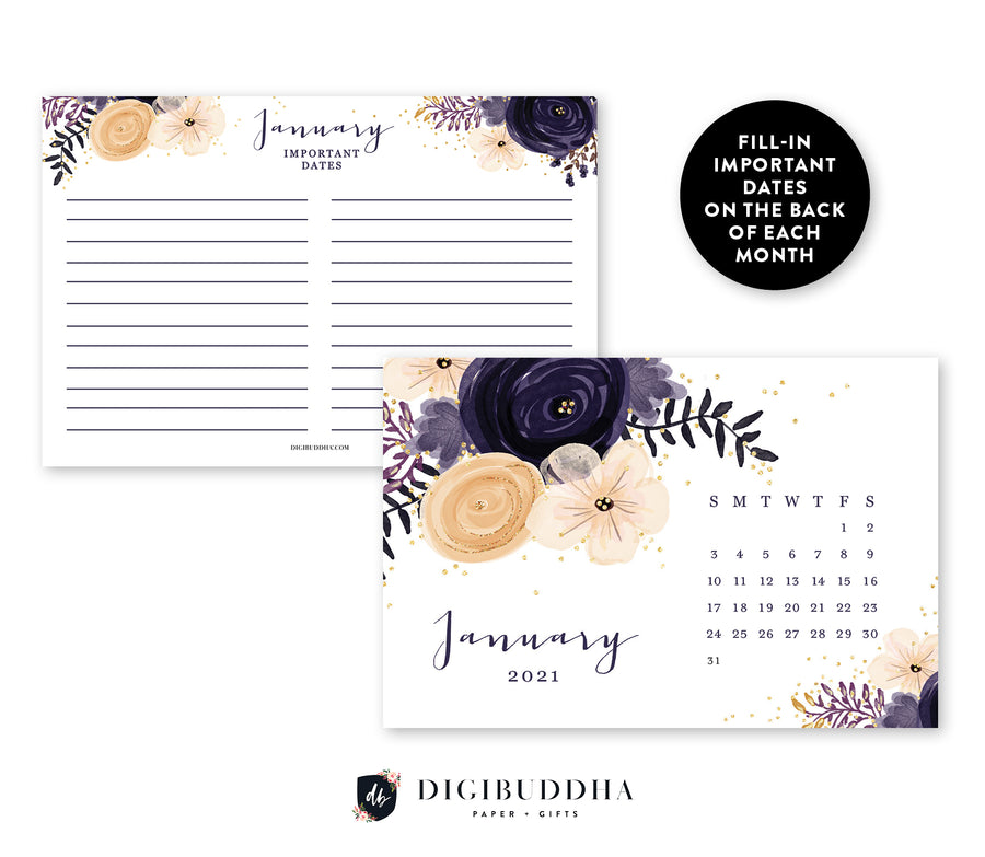 2021 Desk Calendar by Digibuddha | Kerri