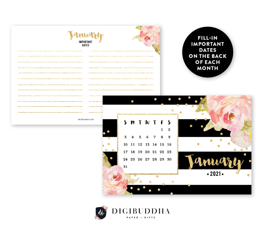 2021 Desk Calendar by Digibuddha | Krissy Black