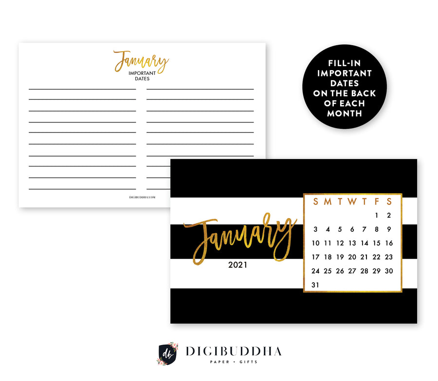 2021 Desk Calendar by Digibuddha | Tory Black