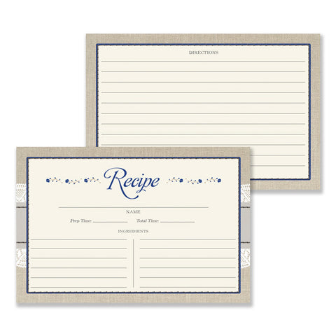 Lace Recipe Cards |  Hillary Navy