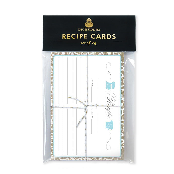 Lace Recipe Cards |  Jackie Mason Blue