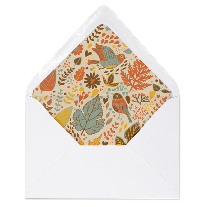 """Jackie"" Autumn Leaves Envelope Liners"