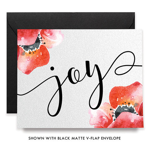 Joy Red Bloom Boxed Holiday Cards | Jasper