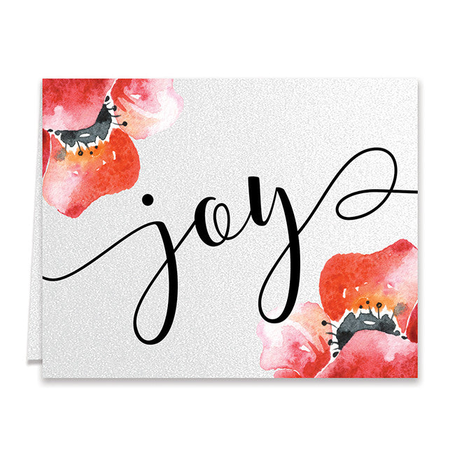 joy red bloom boxed holiday cards jasper - Boxed Holiday Cards