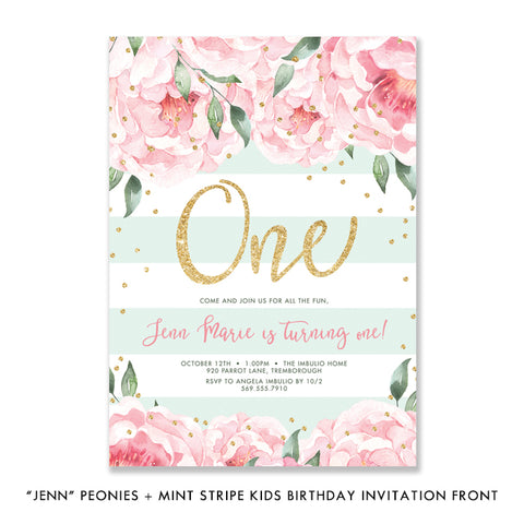 Gender Neutral Kids Birthday Invitation