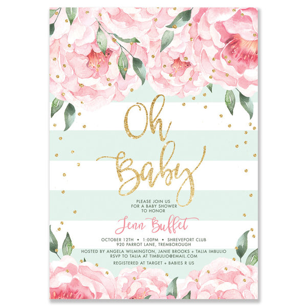 Personalized Stationery Baby Shower Invitation