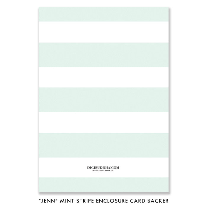 """Jenn"" Mint Striped Enclosure Card"