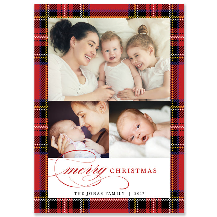 Plaid Holiday Photo Card