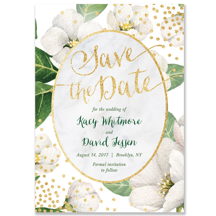 """Kacy"" Floral Save The Date Card"
