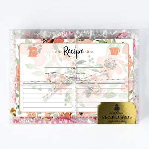 Floral Watercolor Recipe Cards Gift Set | Kaylee