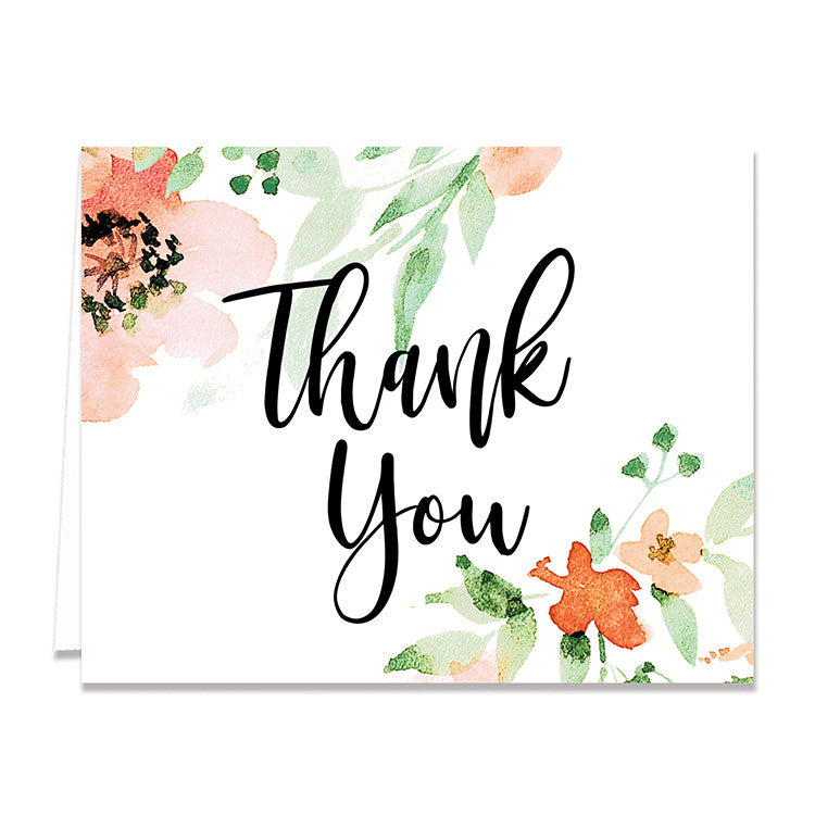 Thank you cards digibuddha kaylee floral watercolor thank you card m4hsunfo