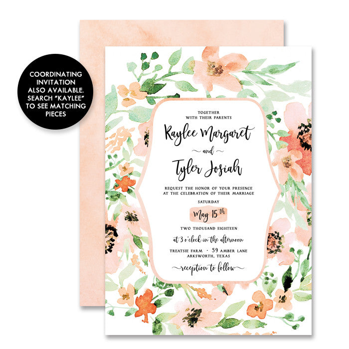 """Kaylee"" Floral Enclosure Card"