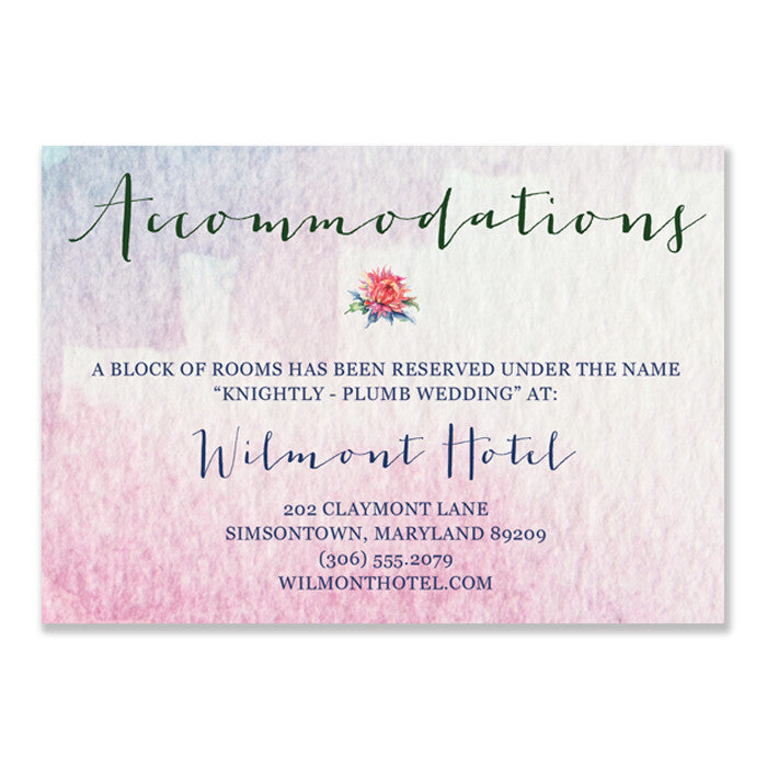 """Kelly"" Boho Floral Enclosure Card"