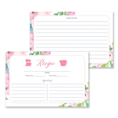 Floral Recipe Cards |  Kennedy