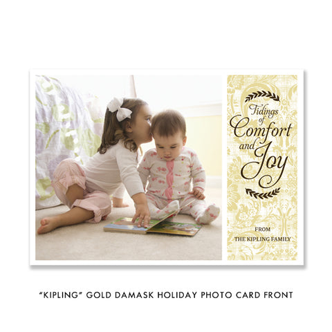 Gold Holiday Photo Card