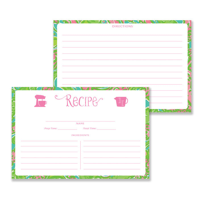 Paisley Recipe Cards |  Kim Lilly