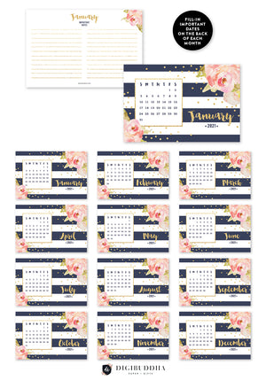 2021 Desk Calendar by Digibuddha | Krissy Navy