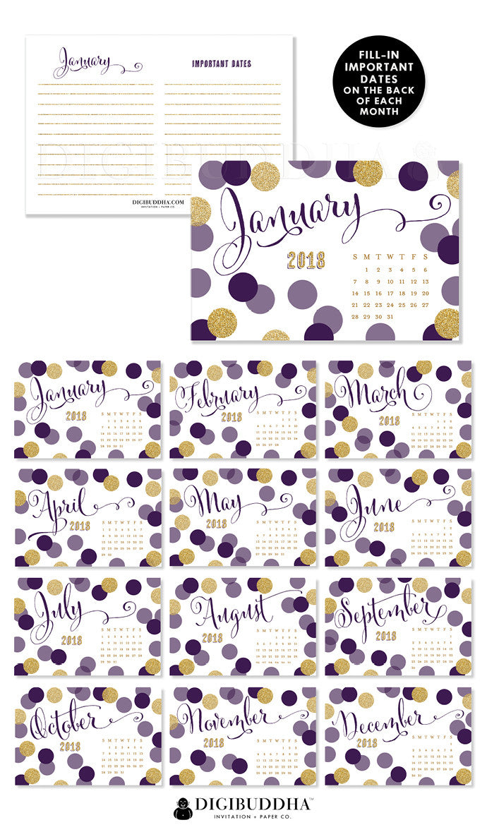 2018 Desk Calendar by Digibuddha | Leigh Plum