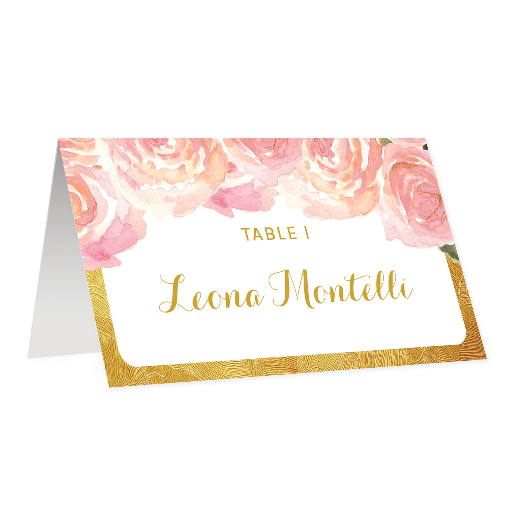Blush Pink + Gold Place Cards | Leona