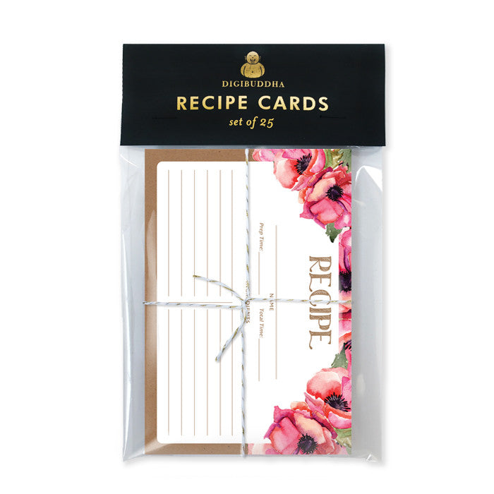 Floral Recipe Cards |  Leona Kraft