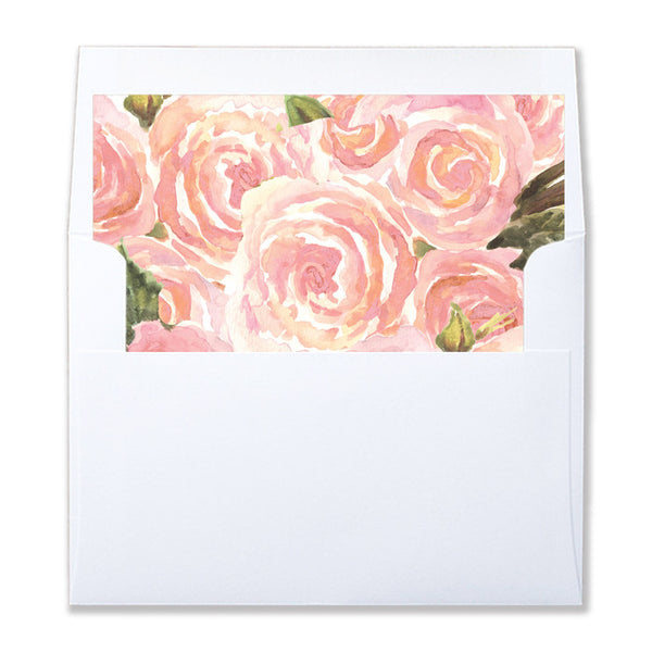 """Leona"" Blush Pink + Gold Envelope Liners"