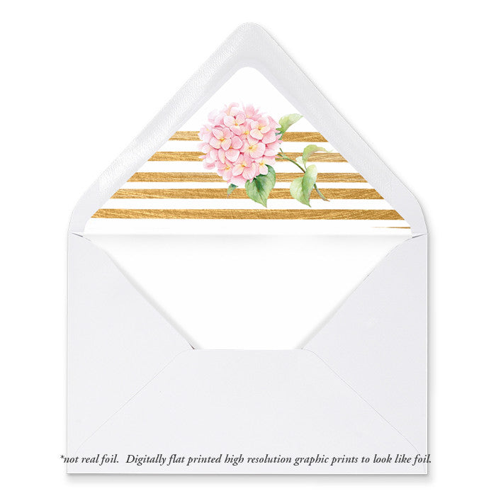 """Lia"" Pink + Gold Stripe Envelope Liners"