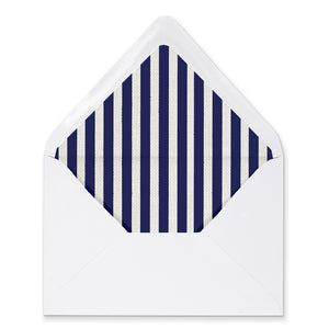 """Madison"" Navy Stripe + Gold Rose Envelope Liners"