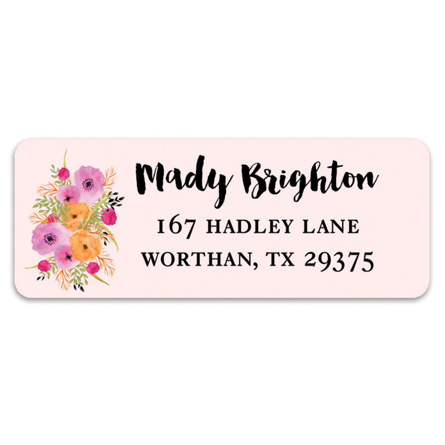 Floral and Pink Address Labels | Mady