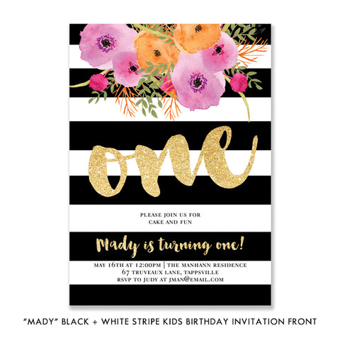 Kids First Birthday Party Invitation