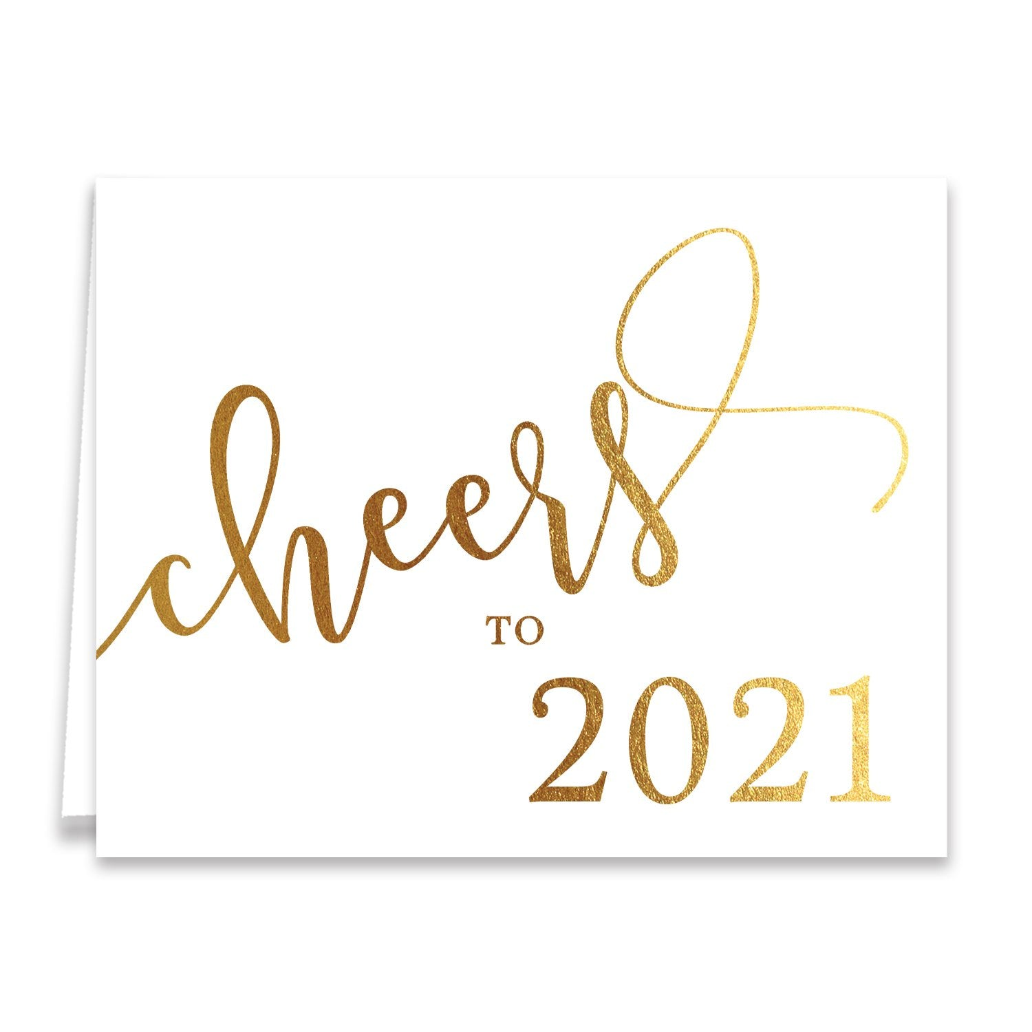 Cheers to 2018 Gold Foil Boxed Holiday Cards | Marley