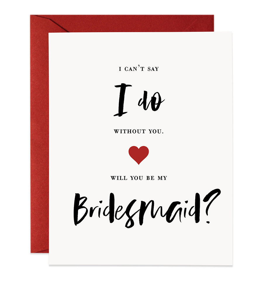 will you be my bridesmaid card black red bridesmaid proposal cards