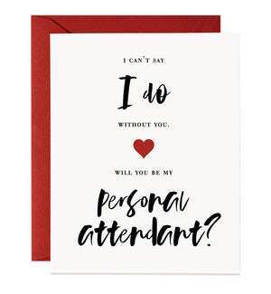 Modern Lettering Bridesmaid Proposal Card | Mia