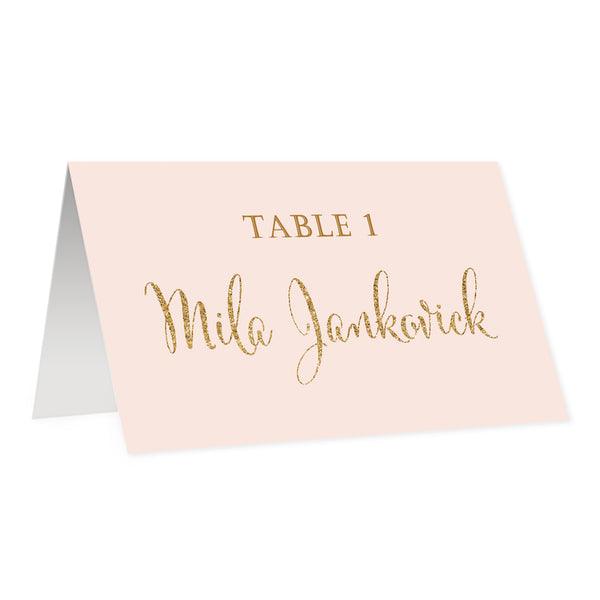 Blush + Gold Place Cards | Mila