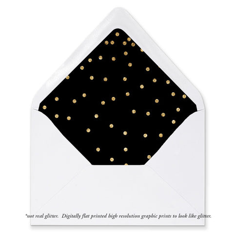 """Mila"" Black + Gold Envelope Liners"