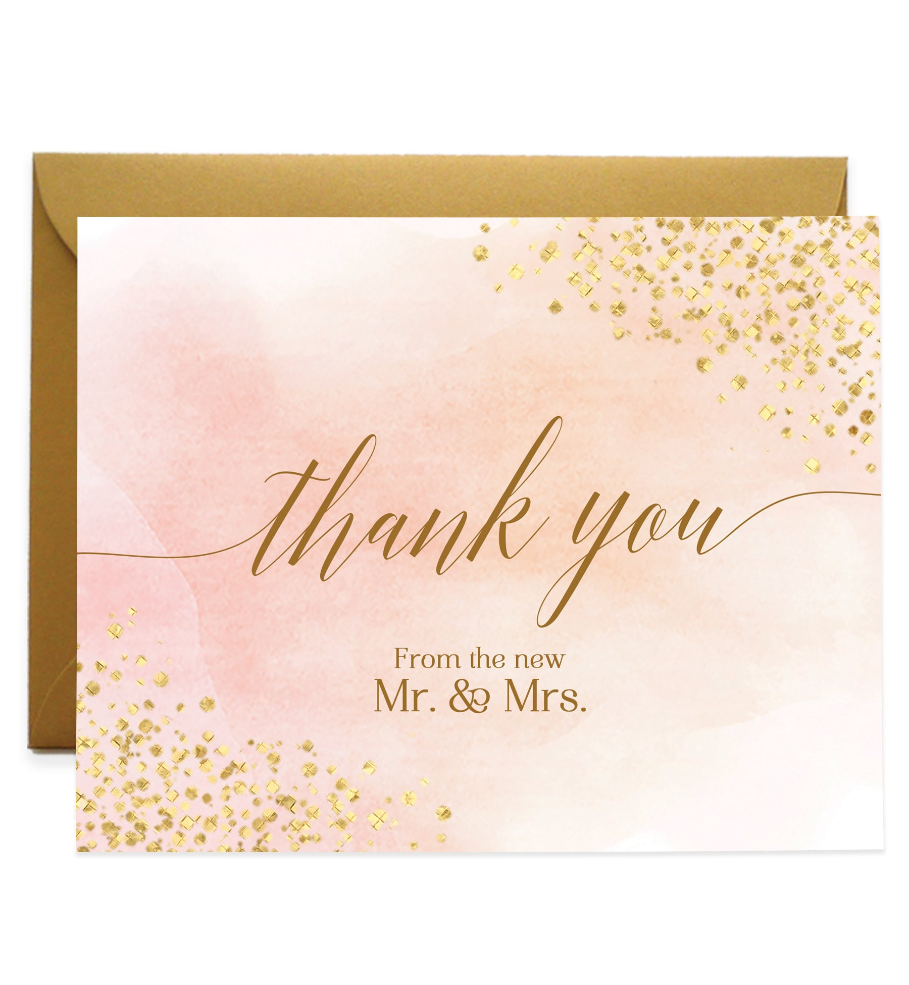 Newlyweds Thank You Greeting Cards Mr Mrs Thank You Cards