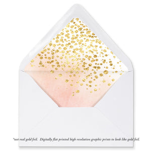 """Monica"" Watercolor + Gold Foil Envelope Liners"