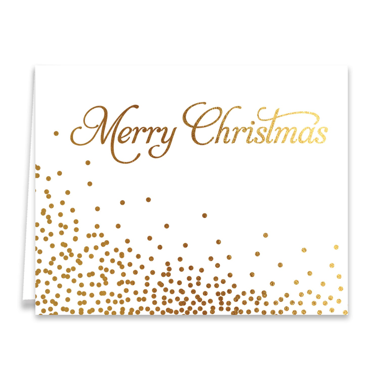 merry christmas confetti gold foil boxed holiday cards notten