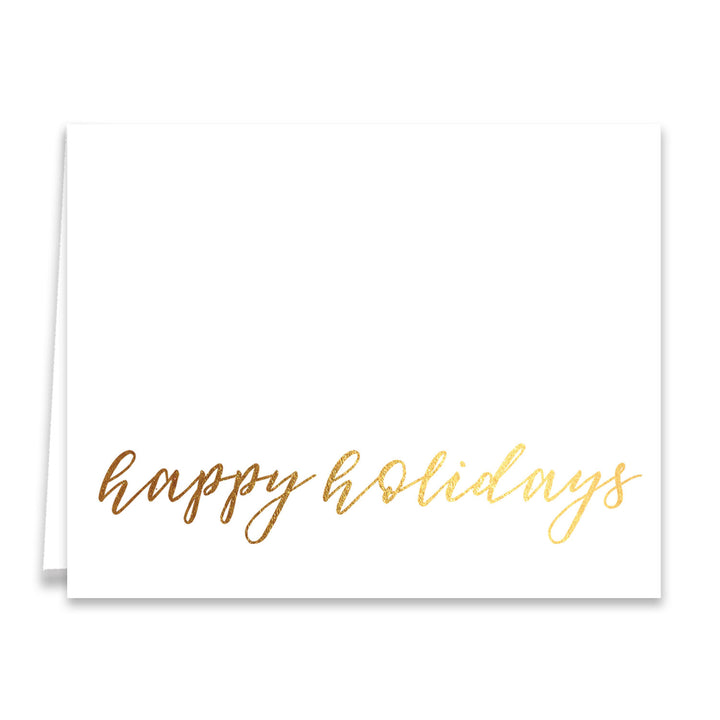 Happy Holidays Gold Foil Greeting Card