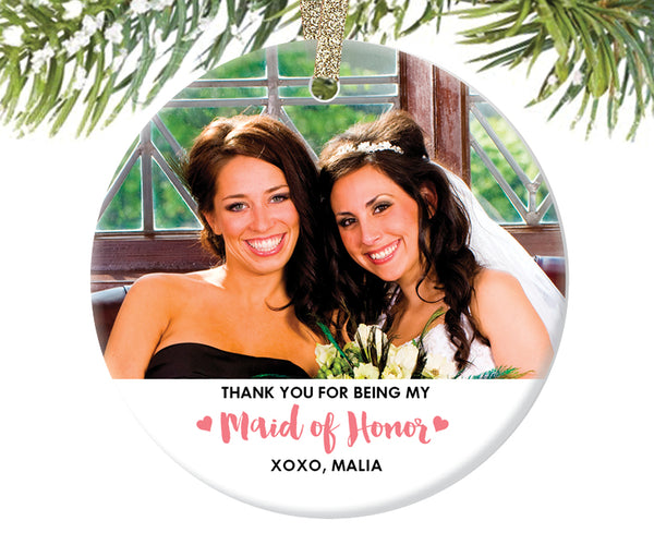 Maid of Honor Christmas Ornament Gift