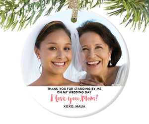 Mom of the Bride Christmas Ornament
