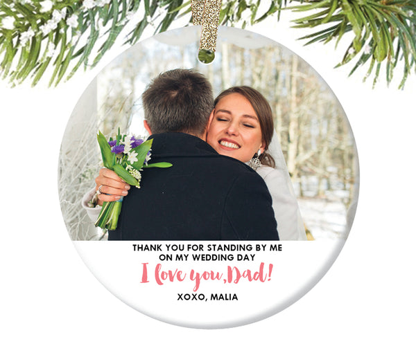 Father of the Bride Photo Ornament