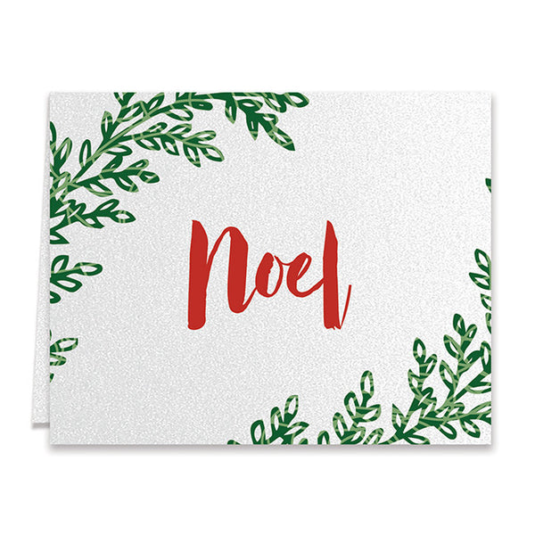 Noel Red & Green Boxed Holiday Cards | Pullman