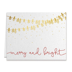 Merry and Bright Lights Boxed Holiday Cards | Raffa