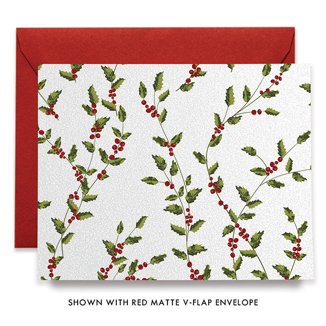 Mistletoe Holly Berry Boxed Holiday Cards | Reyes