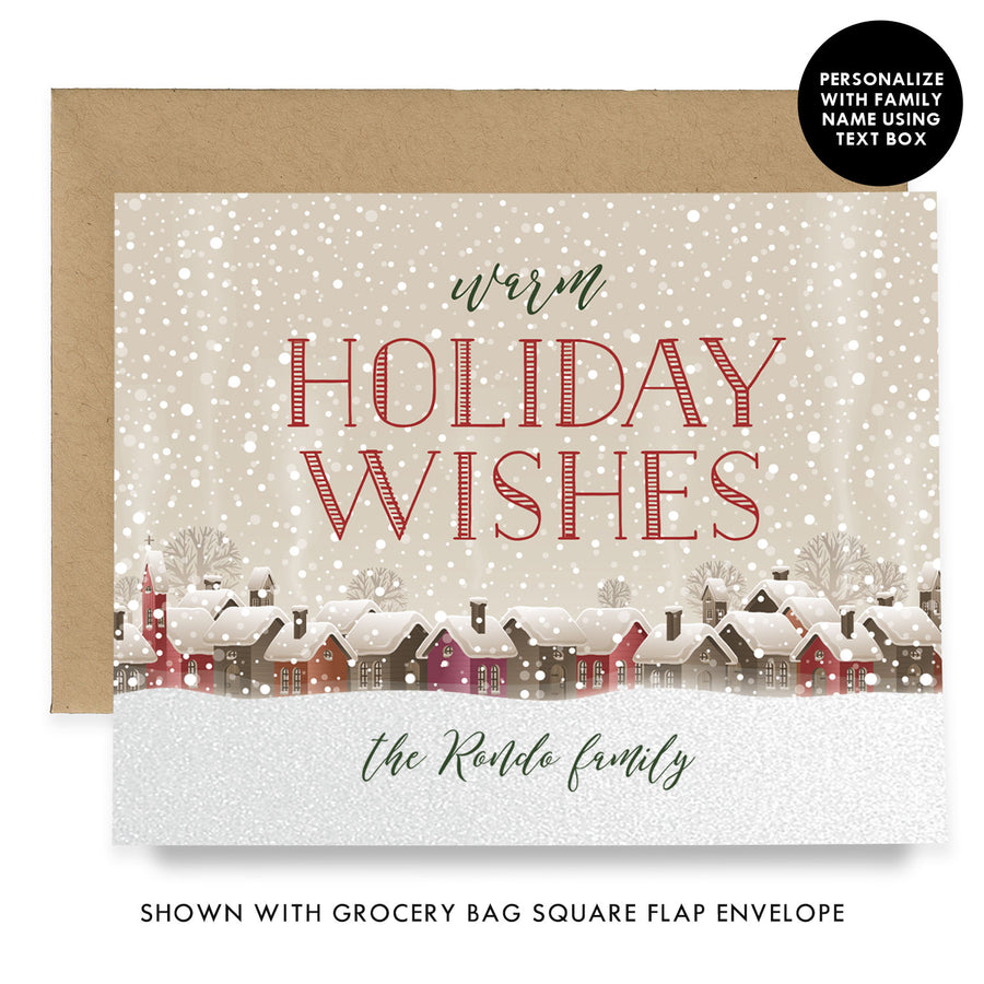 Rustic Personalized Boxed Holiday Cards | Rondo