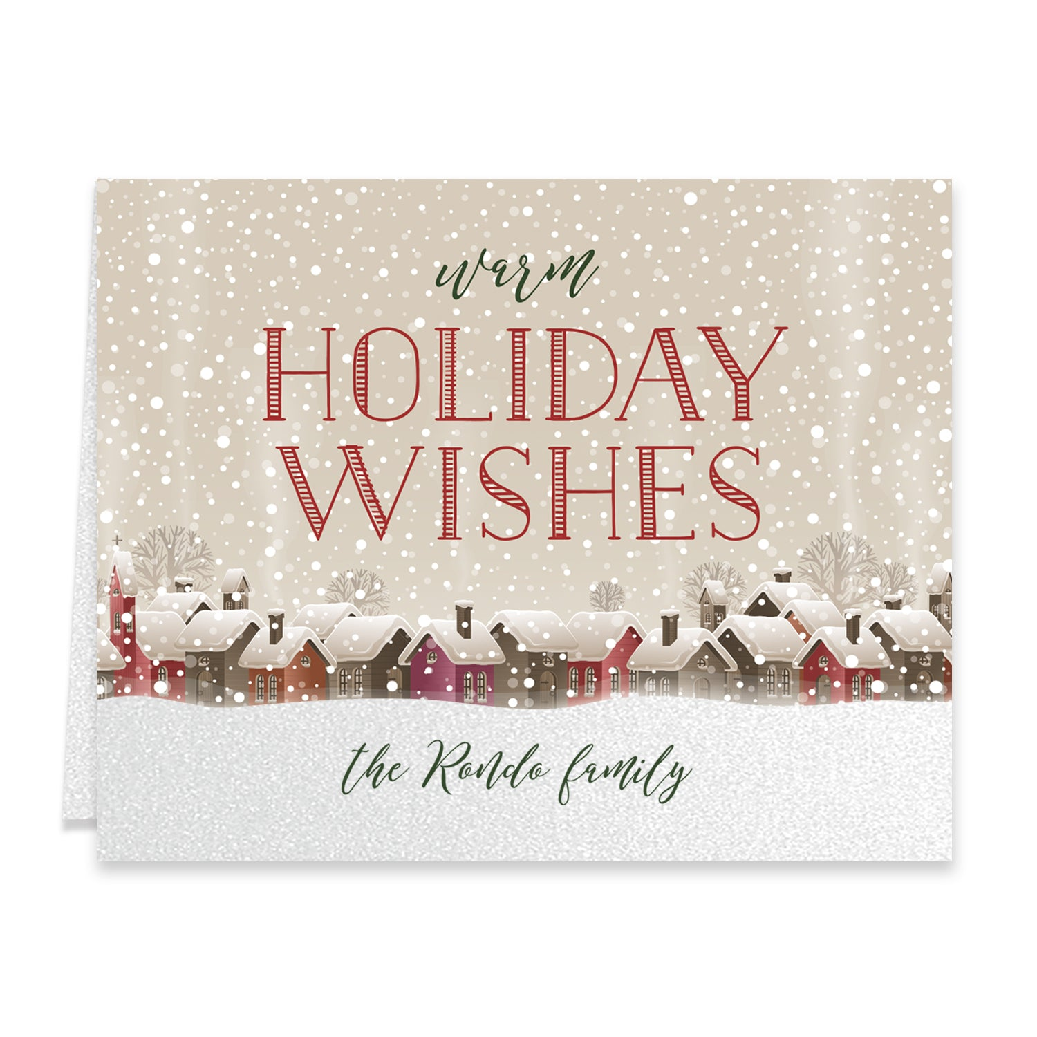 Rustic Personalized Boxed Holiday Cards | Rondo - Digibuddha