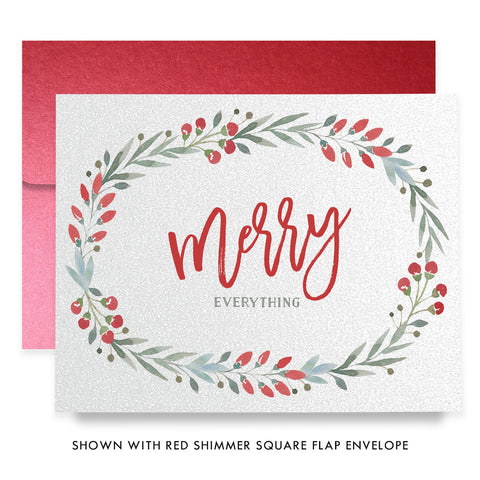 Merry Everything Wreath Boxed Holiday Cards | Roth