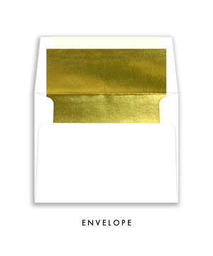 Classic Black & Gold Personalized Stationery Coll. 25