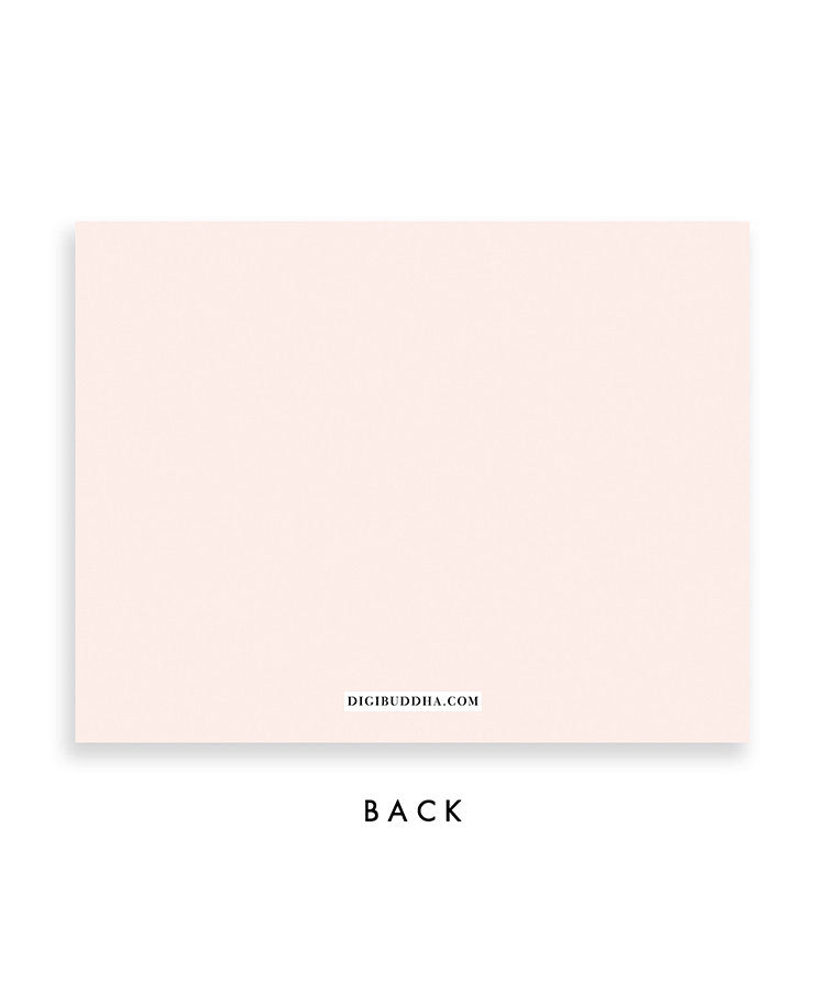Classic Blush Stripe Personalized Stationery Coll. 21