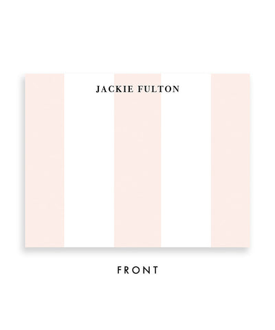 Classic Blush Stripe Personalized Stationery